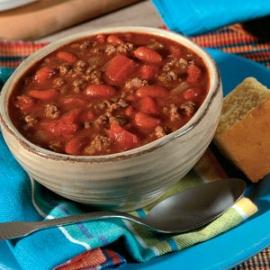 Čili sriuba su sojos faršu