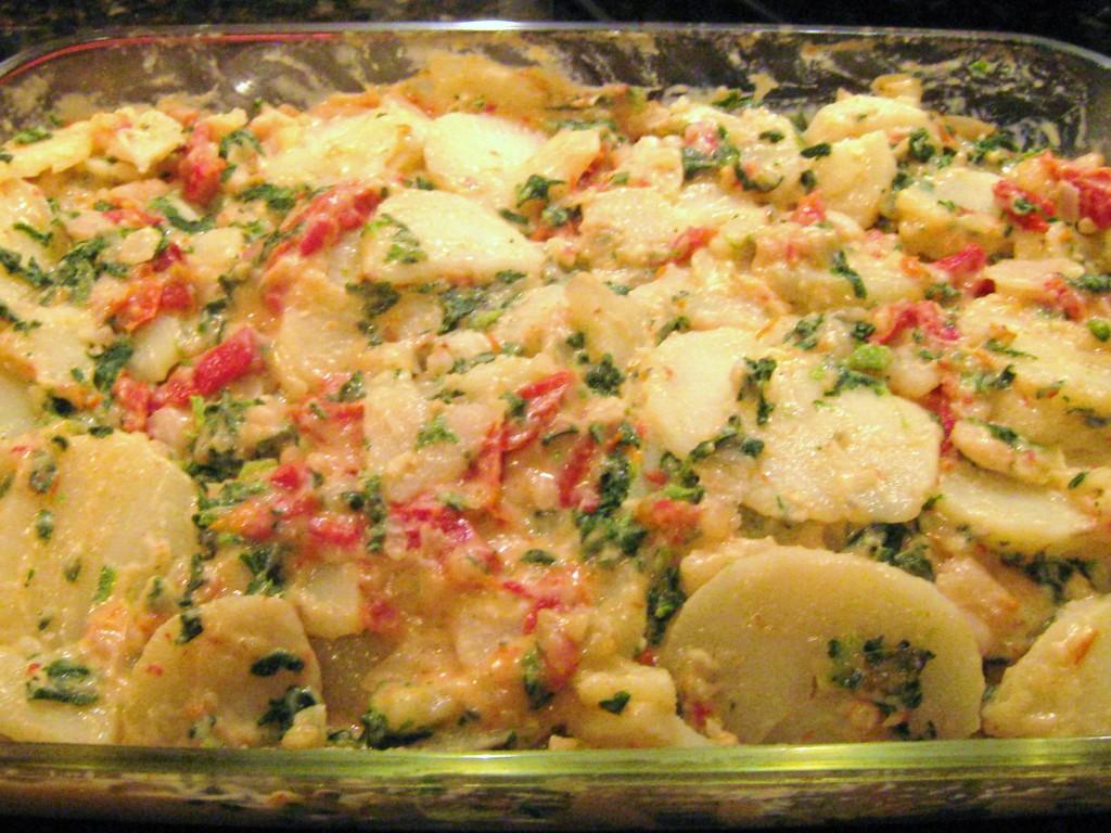 Bulvių ir pomidorų užkepėlė