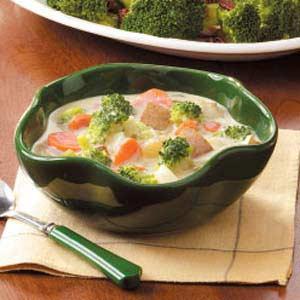 Pieniška daržovių ir sūrio sriuba