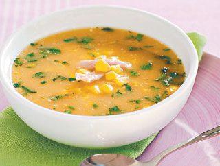 Vištienos ir kukurūzų sriuba