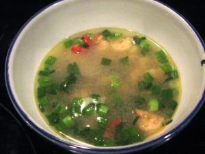 Aštri krevečių sriuba