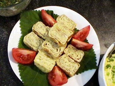 Korėjietiškas omleto roletas