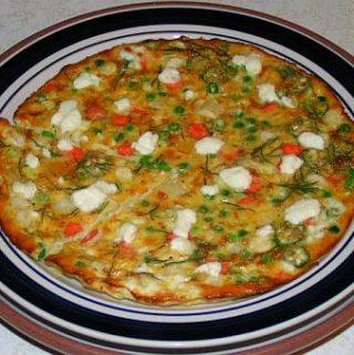 Vegetariška fritata su sūriu