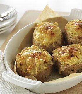 Bulvės įdarytos krabais ir sūriu
