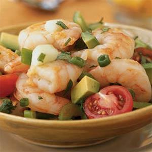 Krevečių salotos su salieru