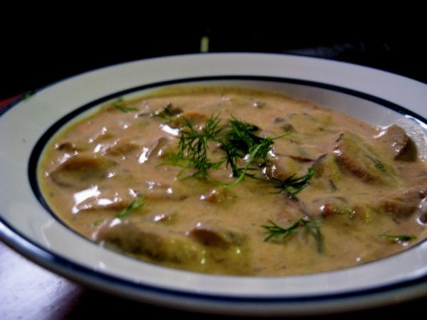 Trinta pupelių sriuba su grybais