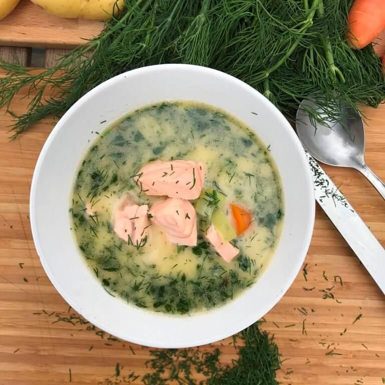 Lašišos sriuba (žuvienė)
