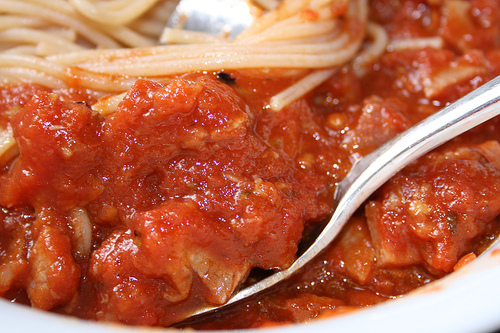 Makaronai su pomidorų padažu