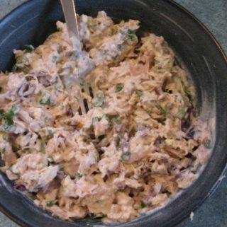 Ryžių mišrainė su tunu ir kukurūzais