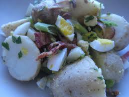 Bulvių salotos su kiaušiniu