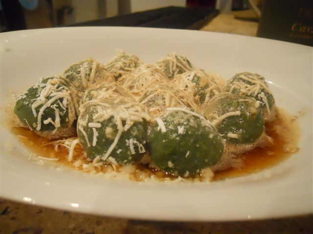 Žalieji dilgynių gnocchi