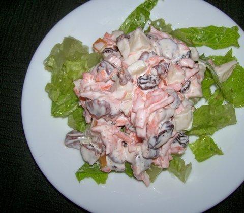 Silkės ir morkų salotos