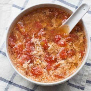 Kiaušinių - pomidorų sriuba