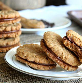 Sausainiai pertepti šokoladu