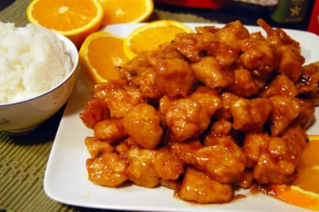 Vištiena su apelsinų padažu