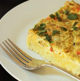 Orkaitėje keptas omletas