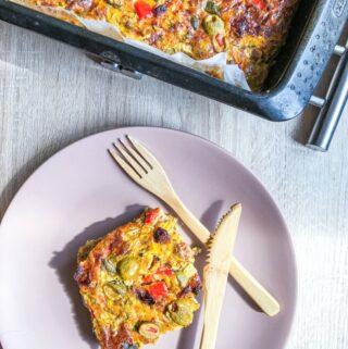 Lengvas daržovių pyragas be miltų