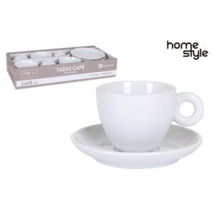 Baltų kavos puodelių rinkinys, 6vnt