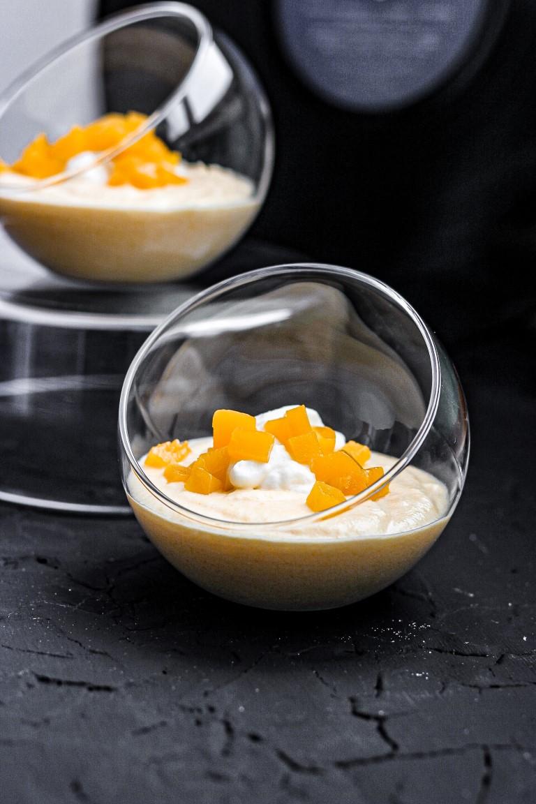 Persikų desertas per 15 minučių