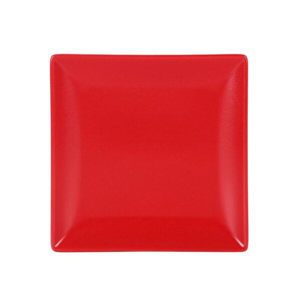 Raudona desertinė lėkštė, 18cm