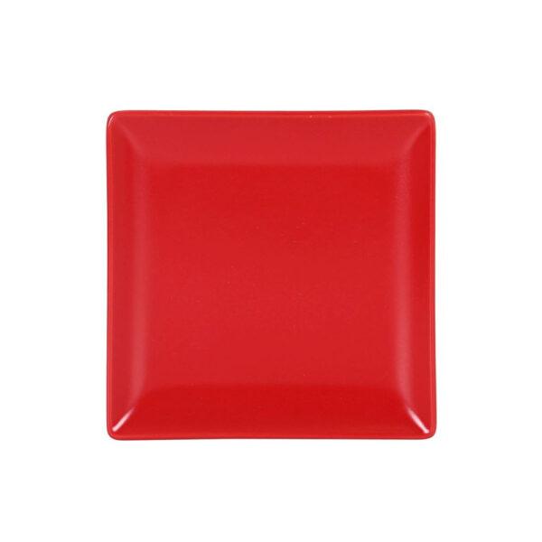 Raudona lėkštė, 16x16cm