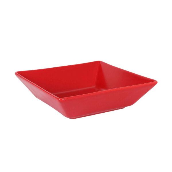 Raudona lėkštė, 17.5x17.5cm