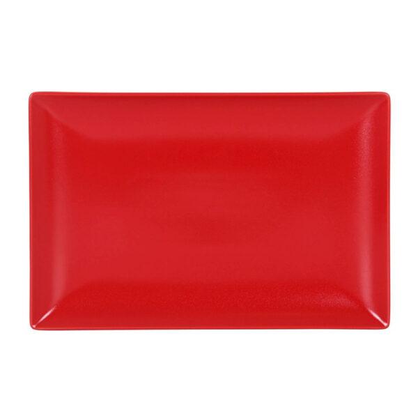 Raudona lėkštė, 30x20cm