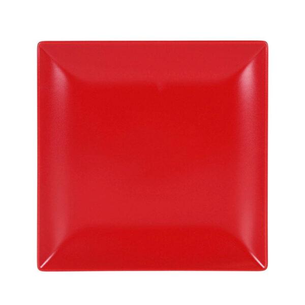 Raudona lėkštė, 24x24cm
