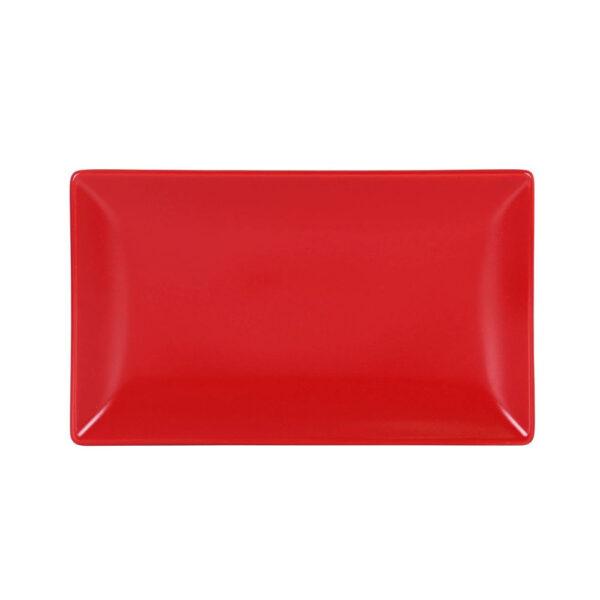 Raudona lėkštė, 25x15cm