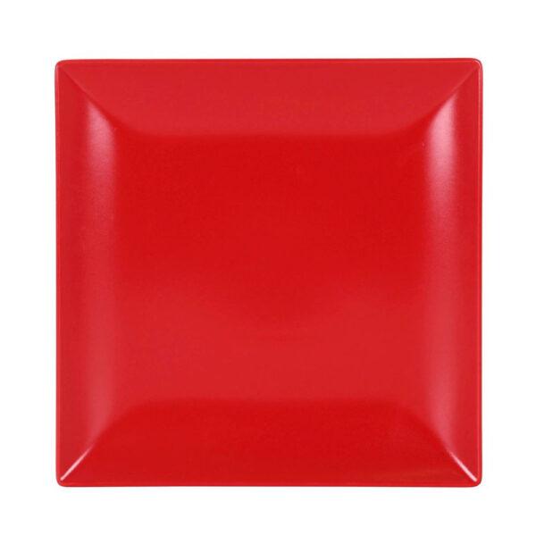 Raudona lėkštė, 26x26cm