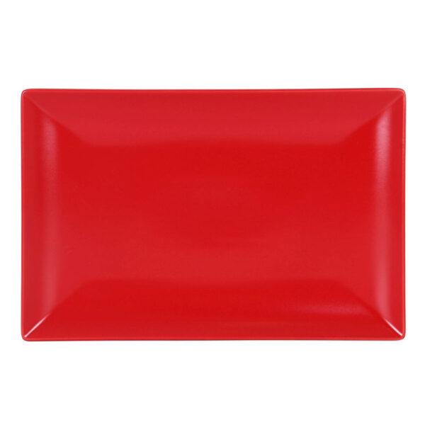 Raudona lėkštė, 34x22cm